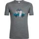 Icebreaker M's Sphere Van Surf Life SS Crewe Shirt metal hthr